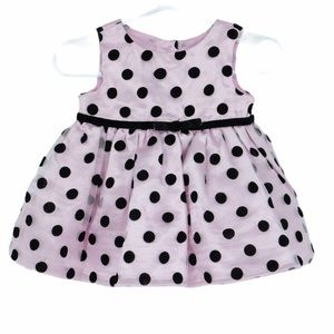 💜5/$25 baby pink polka dot dress with tulle